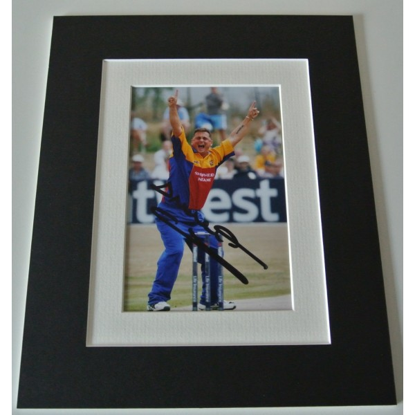 Darren Gough Signed Autograph 10x8 photo mount display England Cricket & COA  PERFECT GIFT