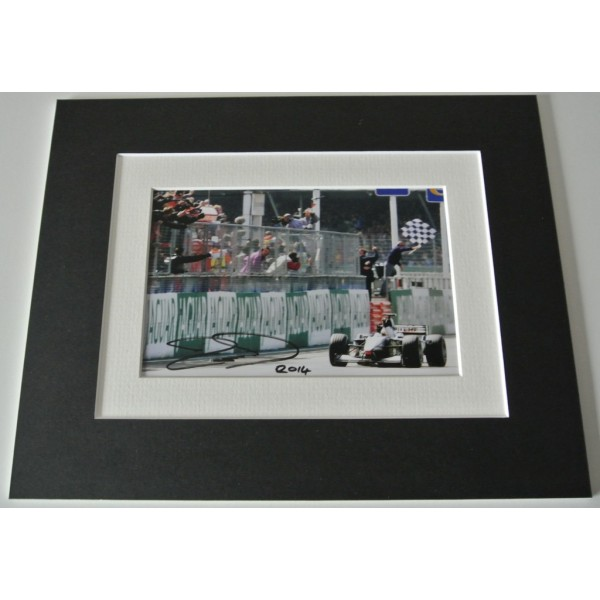 David Coulthard Signed Autograph 10x8 photo display Formula 1 Motor Racing & COA  PERFECT GIFT