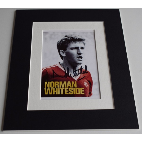 Norman Whiteside Signed Autograph 10x8 photo display Manchester United  AFTAL & COA Memorabilia PERFECT GIFT