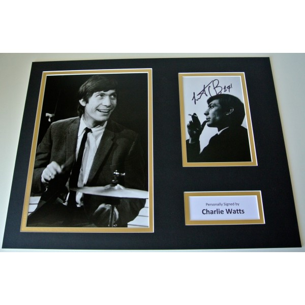 Charlie Watts Signed Autograph 16x12 photo display Rolling Stones Music & COA  CLEARANCE SALE