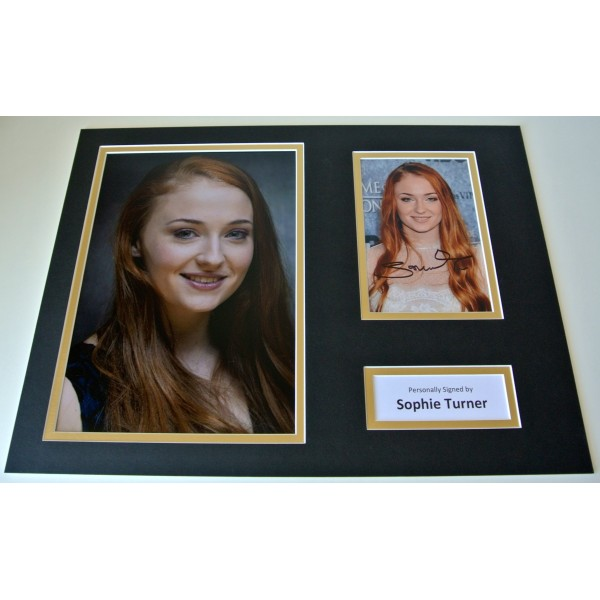 Sophie Turner Signed Autograph 16x12 photo mount display Game of Thrones TV COA  CLEARANCE SALE