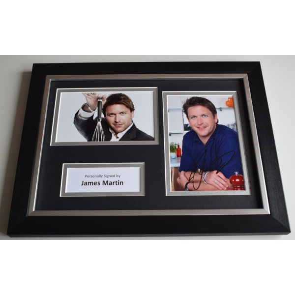 James Martin Signed Autograph A4 FRAMED photo display TV Chef  AFTAL & COA Memorabilia PERFECT GIFT