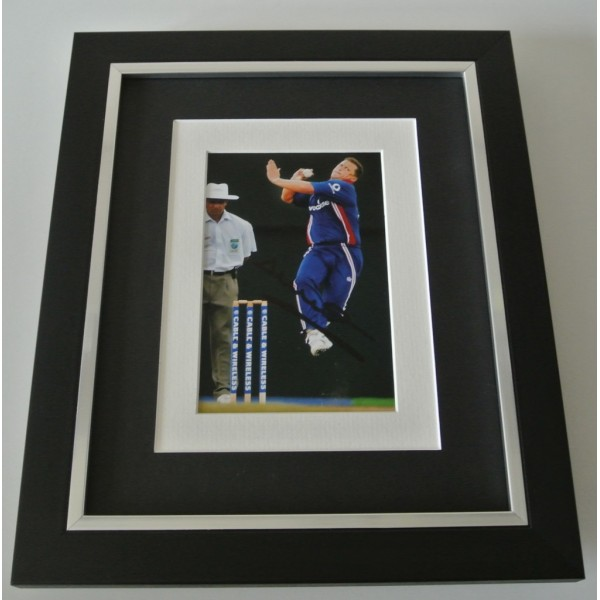 Darren Gough SIGNED 10x8 FRAMED Photo Autograph Display England Cricket & COA     PERFECT GIFT