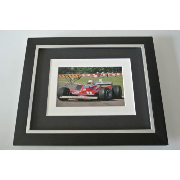 Jody Scheckter SIGNED 10x8 FRAMED Photo Autograph Display Formula 1 Sport & COA      PERFECT GIFT
