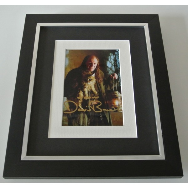 David Bradley SIGNED 10x8 FRAMED Photo Autograph Display Harry Potter Film COA PERFECT GIFT