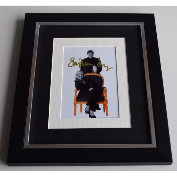 Stephen Fry SIGNED 10x8 FRAMED Photo Autograph Display QI Jeeves Wooster TV  AFTAL & COA Memorabilia PERFECT GIFT