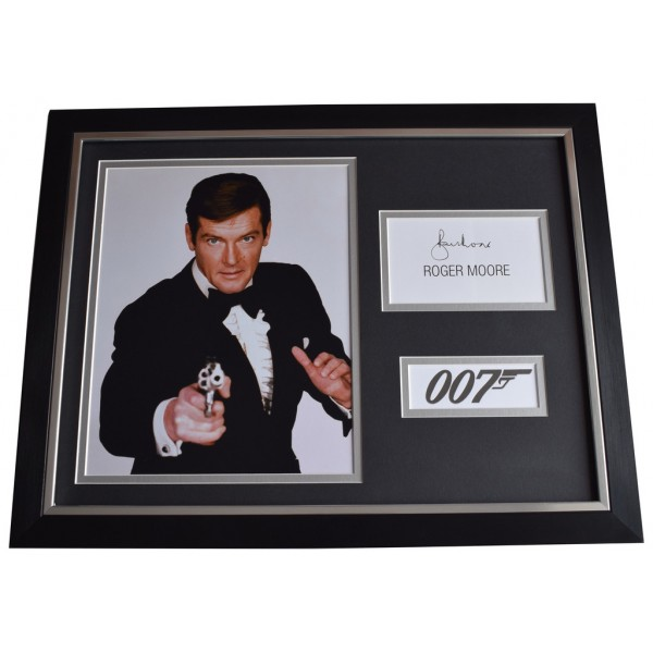 Roger Moore Signed FRAMED Photo Autograph 16x12 display James Bond 007 Film  AFTAL  COA Memorabilia PERFECT GIFT