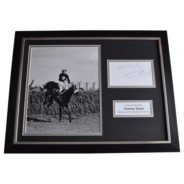 Tommy Stack Signed FRAMED Photo Autograph 16x12 display Red Rum Grand National  AFTAL  COA Memorabilia PERFECT GIFT