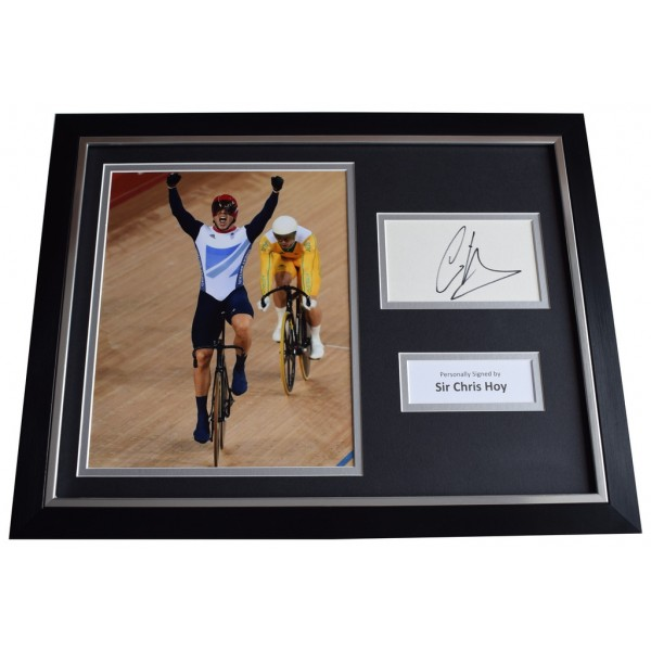Chris Hoy Signed FRAMED Photo Autograph 16x12 display Olympic Cycling  AFTAL  COA Memorabilia PERFECT GIFT
