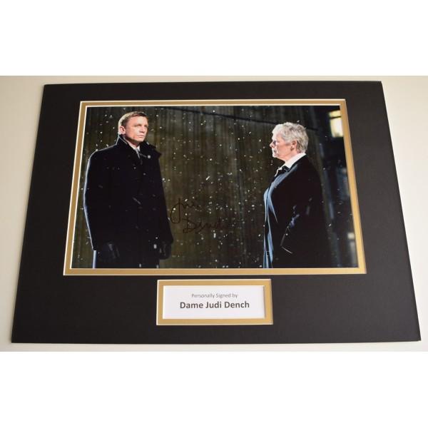 Dame Judi Dench SIGNED autograph 16x12 photo display James Bond Film AFTAL & COA  Memorabilia PERFECT GIFT
