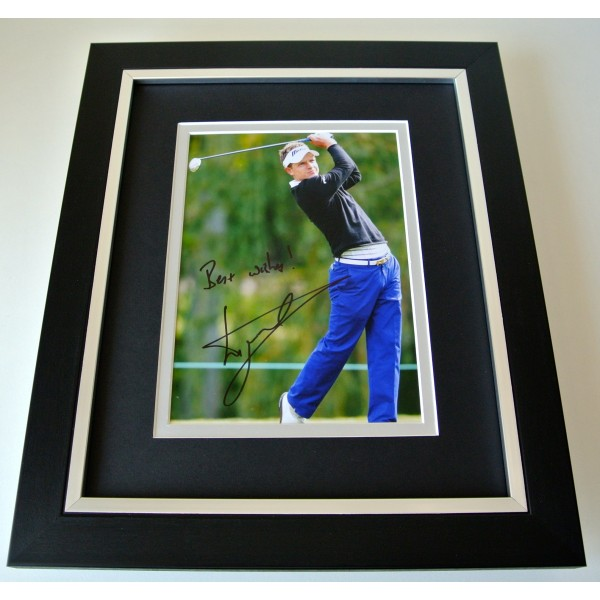 Luke Donald SIGNED 10X8 FRAMED Photo Autograph Display Golf memorabilia & COA