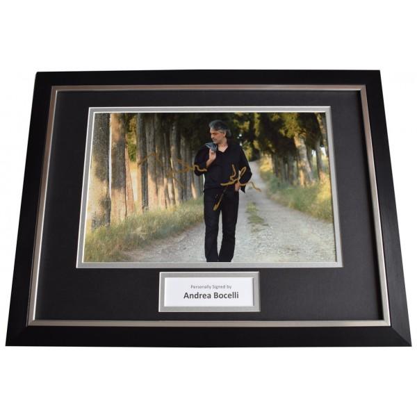 Andrea Bocelli Signed FRAMED Photo Autograph 16x12 display Opera Music AFTAL  COA Memorabilia PERFECT GIFT