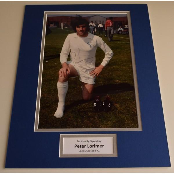Peter Lorimer SIGNED autograph 16x12 photo display Leeds United   AFTAL & COA Memorabilia PERFECT GIFT