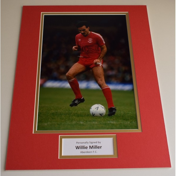 Willie Miller SIGNED autograph 16x12 photo display Aberdeen Football AFTAL & COA Memorabilia PERFECT GIFT