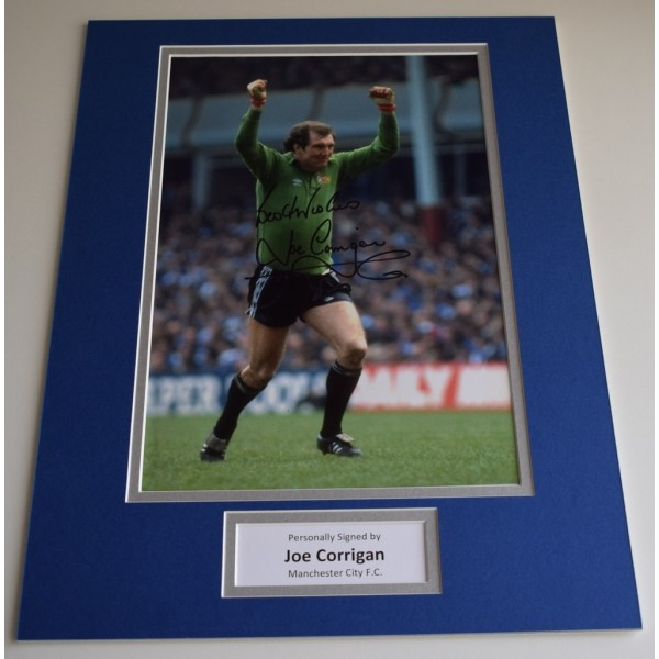 Joe Corrigan SIGNED autograph 16x12 photo display Manchester City AFTAL & COA  Memorabilia PERFECT GIFT