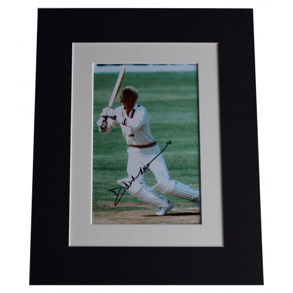 David Gower Signed Autograph 10x8 photo display England Cricket  AFTAL  COA Memorabilia PERFECT GIFT