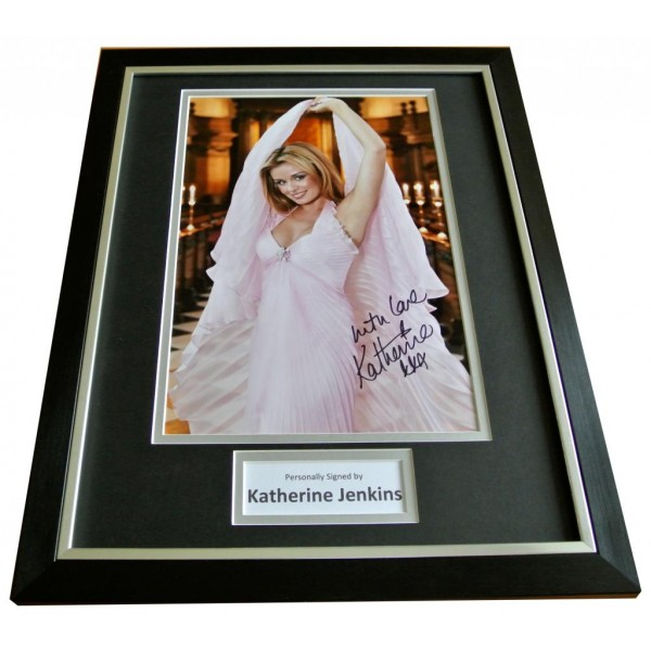 KATHERINE JENKINS Signed FRAMED Photo Autograph Display WALES OPERA Music & COA     PERFECT GIFT