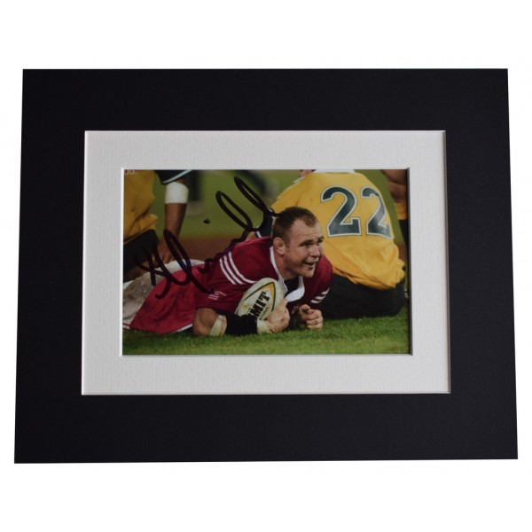 Scott Quinnell Signed Autograph 10x8 photo display Wales Rugby Union   AFTAL  COA Memorabilia PERFECT GIFT