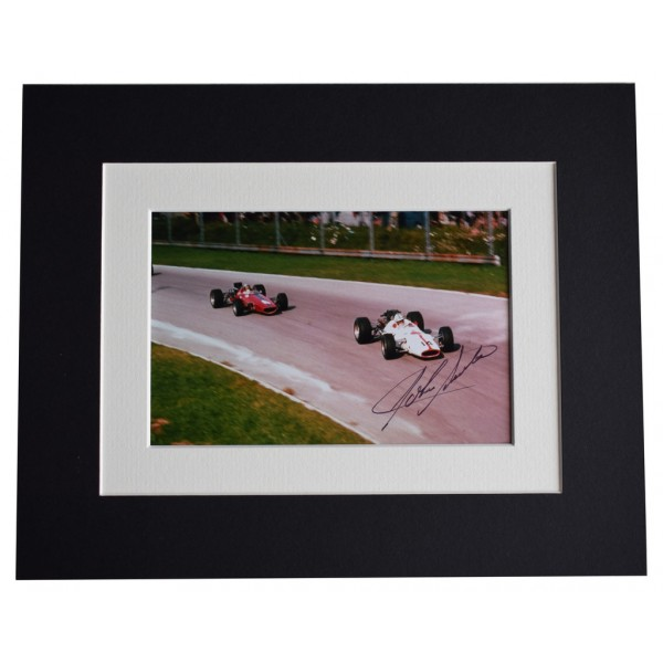 John Surtees Signed Autograph 10x8 photo display Formula 1 Sport  AFTAL  COA Memorabilia PERFECT GIFT