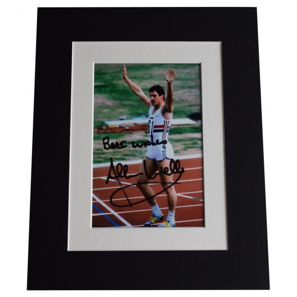 Allan Wells Signed Autograph 10x8 photo display Olympic 100m Champion  AFTAL  COA Memorabilia PERFECT GIFT