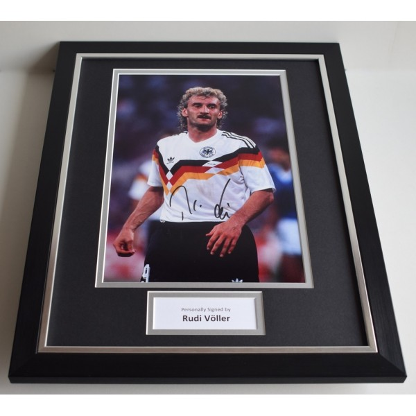 Rudi Voller SIGNED FRAMED Photo Autograph 16x12 display Germany Football AFTAL & COA Memorabilia PERFECT GIFT