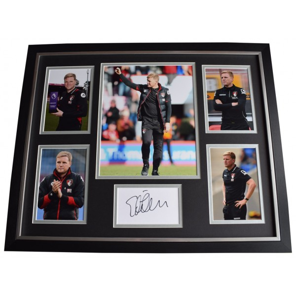 Eddie Howe SIGNED Framed Photo Autograph Huge display Bournemouth Football AFTAL  COA Memorabilia