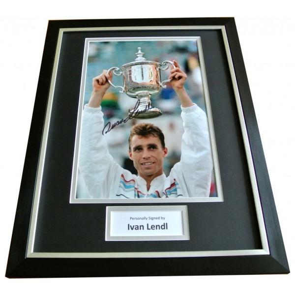 IVAN LENDL Signed FRAMED Photo Mount Autograph Display Tennis Memorabilia & COA      PERFECT GIFT