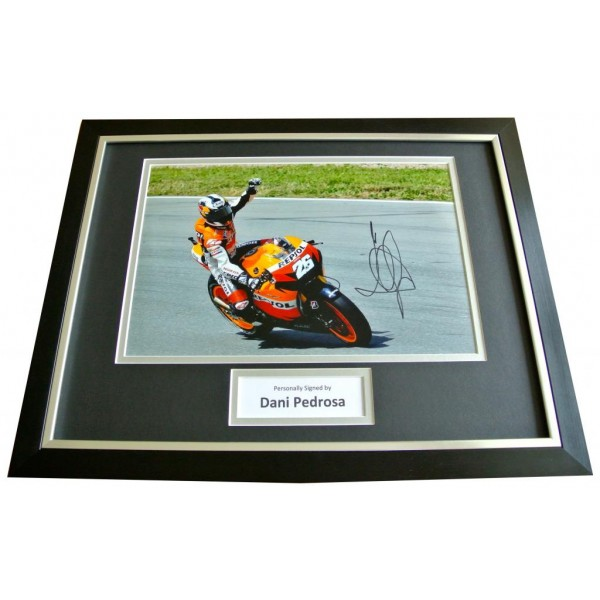 DANI PEDROSA Signed FRAMED Photo Mount Autograph Display Superbike Champion COA      PERFECT GIFT