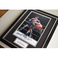 Barry McGuigan SIGNED FRAMED Photo Autograph 16x12 display Boxing AFTAL & COA Memorabilia PERFECT GIFT