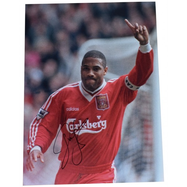 John Barnes SIGNED autograph 16x12 HUGE photo Liverpool Football    AFTAL  COA Memorabilia CLEARANCE