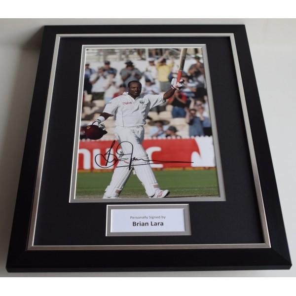 Brian Lara SIGNED FRAMED Photo Autograph 16x12 display West Indies Cricket AFTAL & COA Memorabilia PERFECT GIFT
