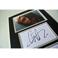 Aaron Eckhart Signed Autograph A4 photo mount display Dark Knight Rises Film COA