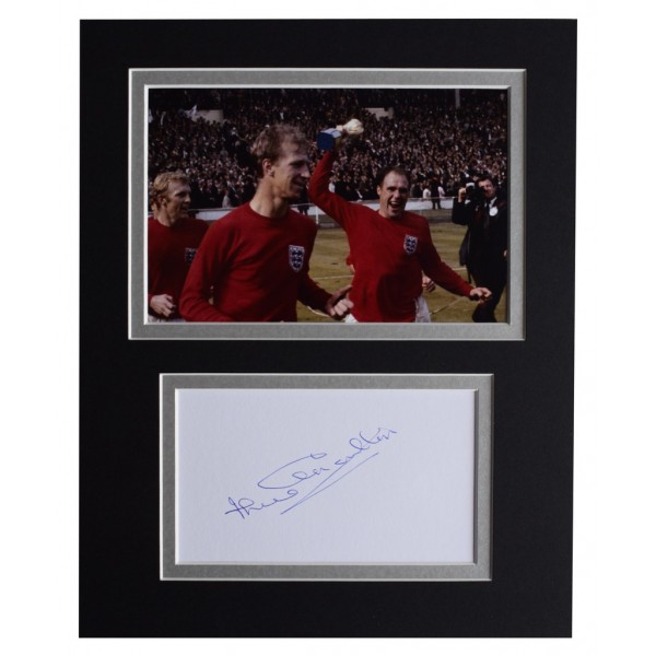 Jack Charlton Signed Autograph 10x8 photo display England Football    AFTAL  COA Memorabilia PERFECT GIFT