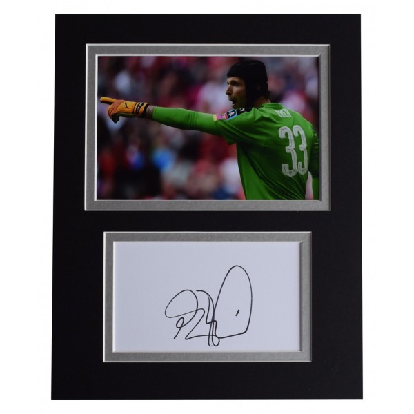 Petr Cech Signed Autograph 10x8 photo display Arsenal Football    AFTAL  COA Memorabilia PERFECT GIFT