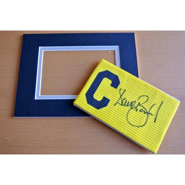 DAVE BEASANT Signed Captains Armband & free mount display WIMBLEDON PROOF COA & AFTAL Memorabilia CLEARANCE