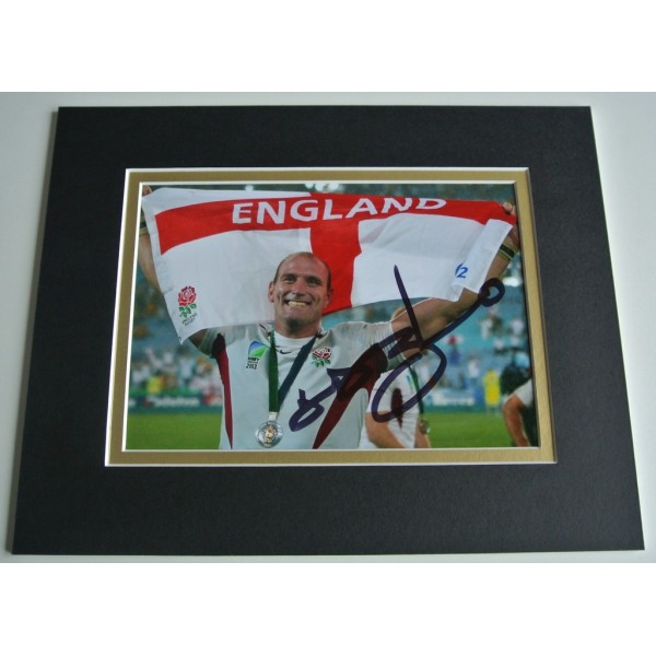 Lawrence Dallaglio Signed Autograph 10x8 photo display England Rugby Union COA     PERFECT GIFT
