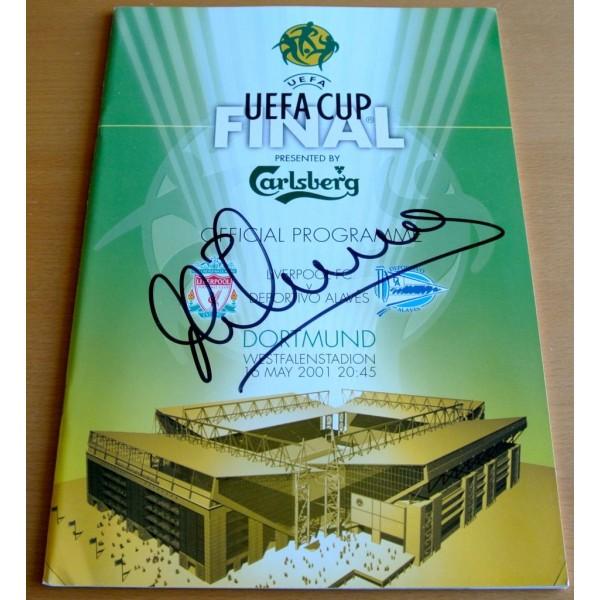 MICHAEL OWEN SIGNED Autograph Brand new 2001 UEFA CUP Final Programme AFTAL & COA SPORT Memorabilia PERFECT GIFT