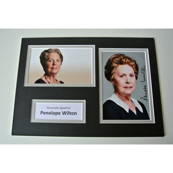 Penelope Wilton Signed Autograph A4 photo mount display Downton Abbey TV & COA  CLEARANCE SALE