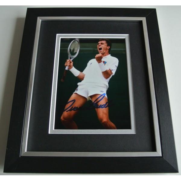 Ivan Lendl SIGNED 10X8 FRAMED Photo Autograph Display Tennis Memorabilia & COA  PERFECT GIFT