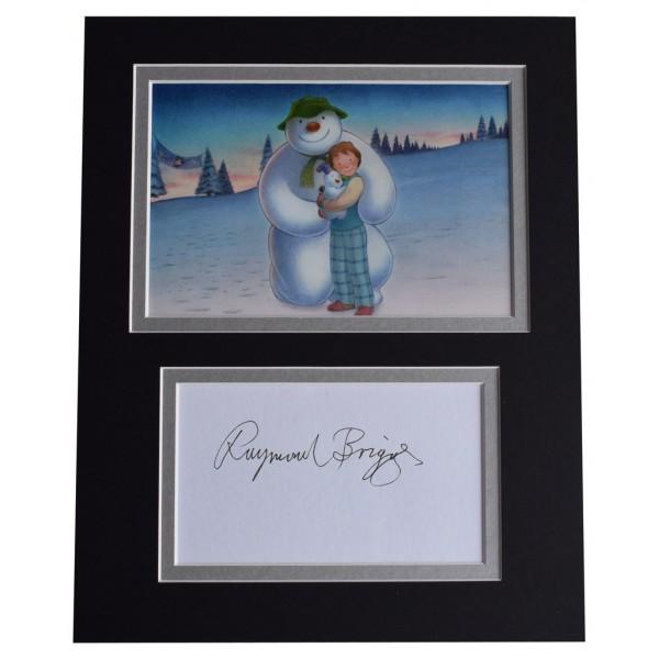 Raymond Briggs Signed Autograph 10x8 photo display TV The Snowman  AFTAL  COA Memorabilia PERFECT GIFT