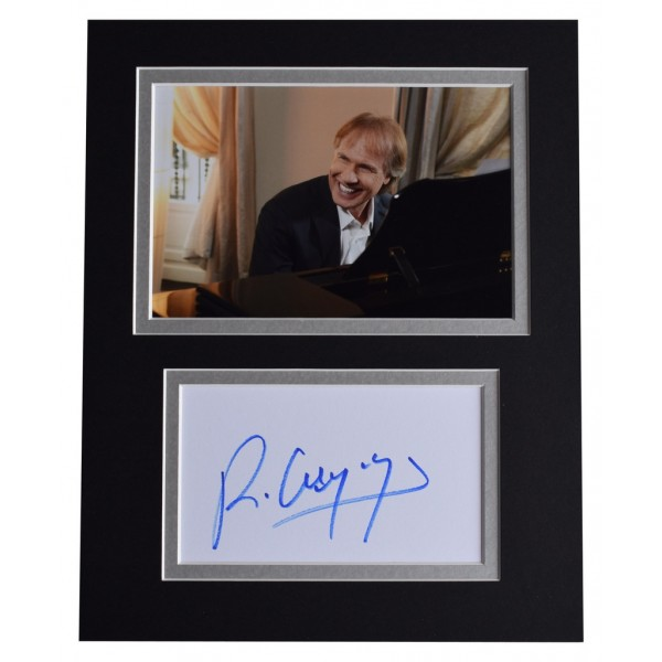 Richard Clayderman Signed Autograph 10x8 photo display Piano Music AFTAL  COA Memorabilia PERFECT GIFT