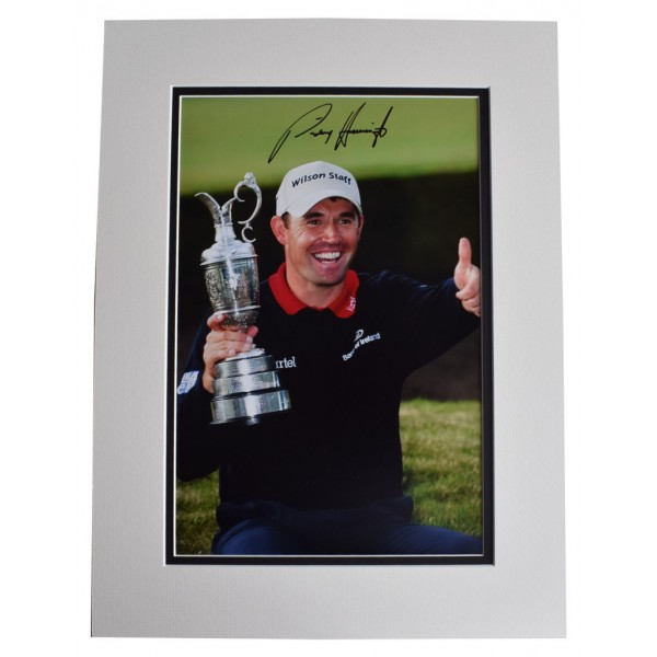 Padraig Harrington SIGNED autograph 16x12 photo display Golf Sport AFTAL  COA Memorabilia PERFECT GIFT