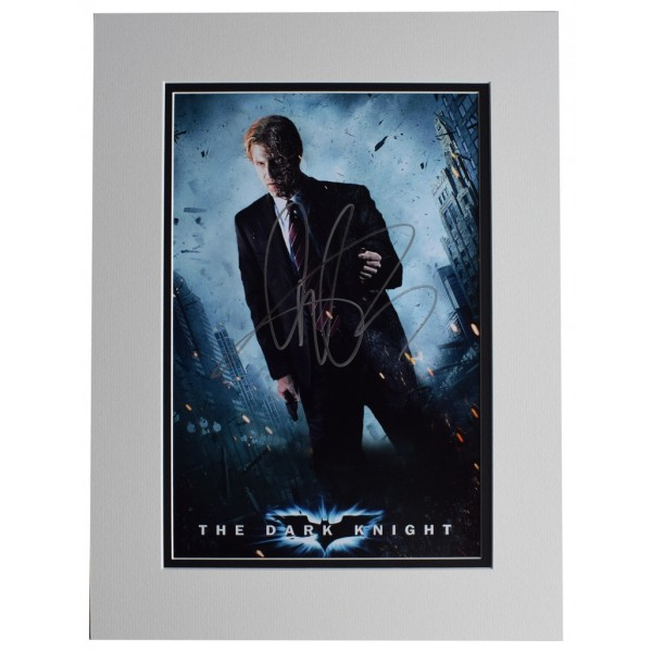 Aaron Eckhart SIGNED autograph 16x12 photo display The Dark Knight Film  AFTAL  COA Memorabilia PERFECT GIFT