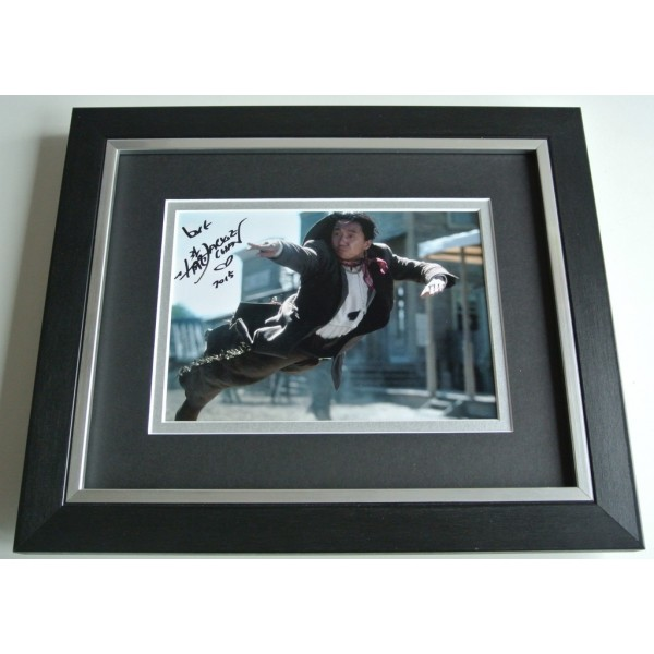 Jackie Chan SIGNED 10X8 FRAMED Photo Autograph Display Martial Arts Film & COA PERFECT GIFT