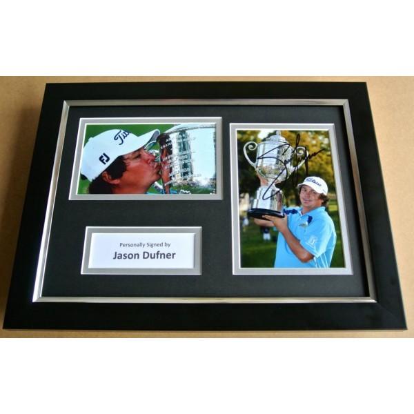 JASON DUFNER Signed A4 FRAMED Photo Mount Autograph Display Golf Memorabilia COA CLEARANCE