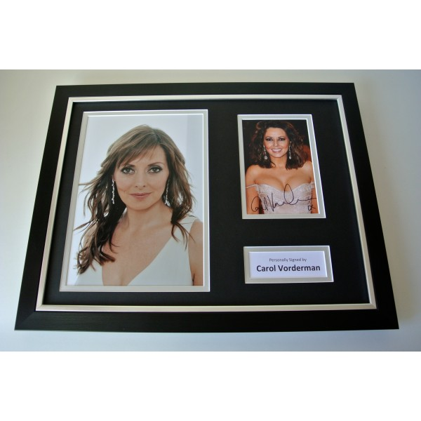 Carol Vorderman SIGNED FRAMED Photo Autograph 16x12 display Coundown TV & COA