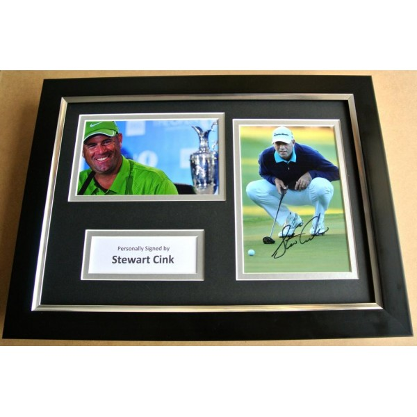 STEWART CINK Signed A4 FRAMED Photo Mount Autograph Display Golf Memorabilia COA PERFECT GIFT