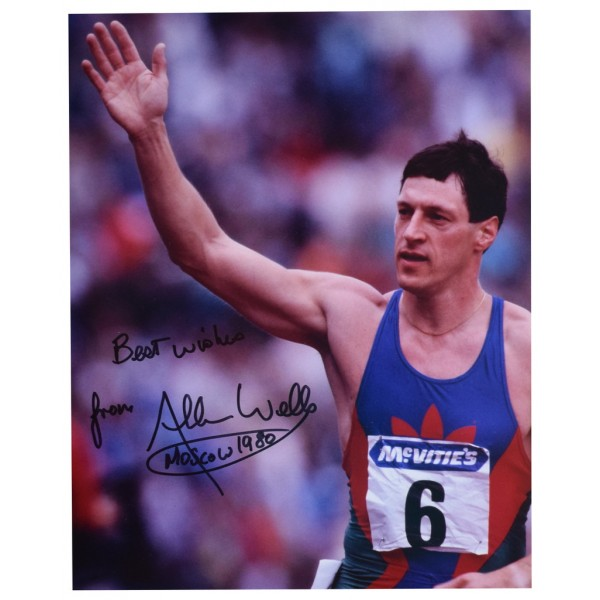 Allan Wells SIGNED 10x8 Photo Autograph Olympics 100m Athletics  AFTAL  COA Memorabilia PERFECT GIFT
