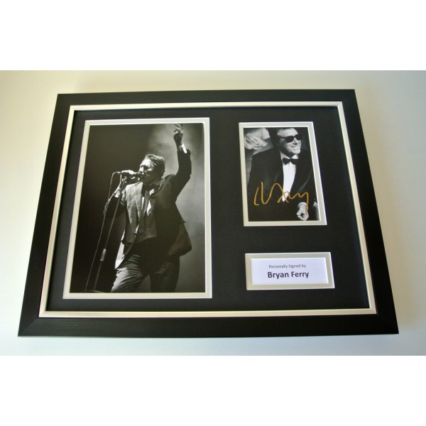 Bryan Ferry SIGNED FRAMED Photo mount Autograph 16x12 display Roxy Music & COA