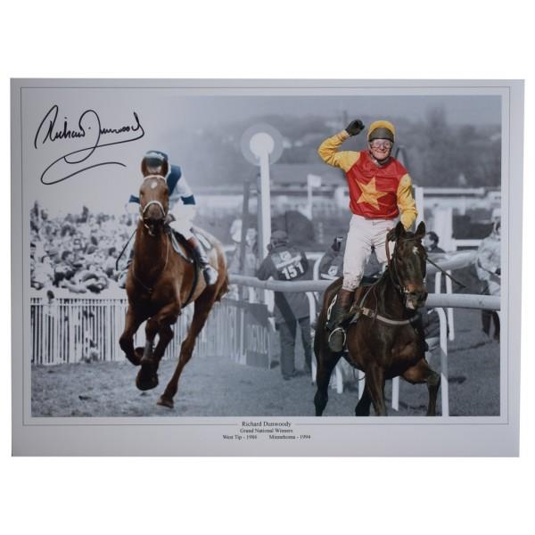 Richard Dunwoody autograph 16x12 HUGE photo Horse Racing Grand National AFTAL  COA Memorabilia PERFECT GIFT